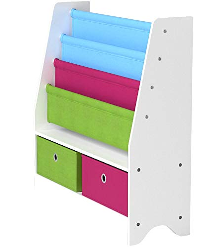 HOMFA Toy Storage Organizer Rack Kids Book Organizer Non-woven Fabric Storage Bin Bookcase Storage for Toddlers by Homfa