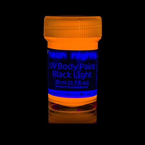 'XXL Set' 24 Cans of Neon Body Paints by neon nights - 16.5 fl oz of Luminescent Body Paints - Long-Lasting Neon Body Paints for Blacklights, UV Lights - Fluorescent Body Paints for Adults by neon nights (Image #5)
