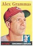 1958 Topps Regular (Baseball) Card# 254 Alex Grammas of the Cincinnati Reds VGX Condition