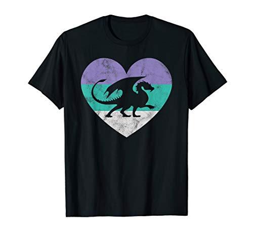 Dragon Gift Shirt For Women & Girls Retro Cute ()