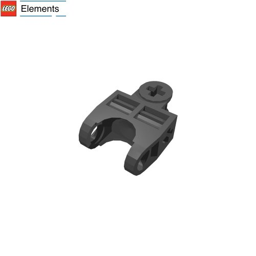 Lego Technic Bionicle - Lego Parts: Technic, Axle Connector 2 x 3 with Ball Socket, Open Sides (Black)