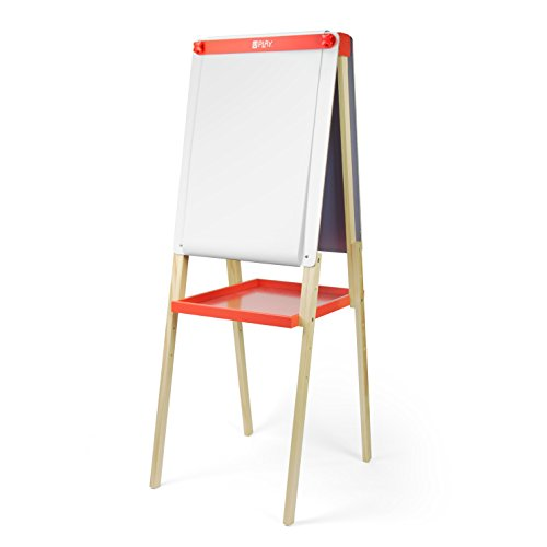 U Play Adjustable Childrens Art Easel, Double Sided Chalk...