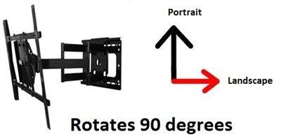 Portrait/ Landscape Swivel TV Wall Mount for 55