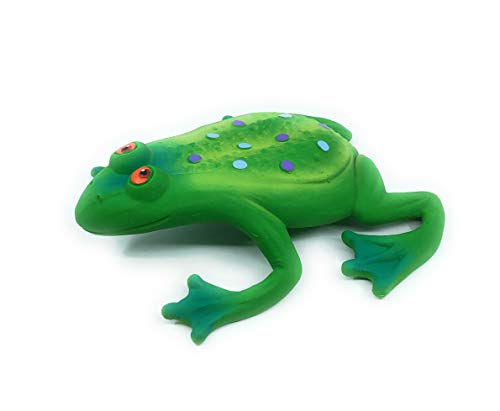 Large Squeaky Frog Dog Toys. 100% Natural Rubber (Latex). Complies to Same Safety Standards as Children's Toys. Soft & Squeaky. Best Dog Toy for Large Dog. ()