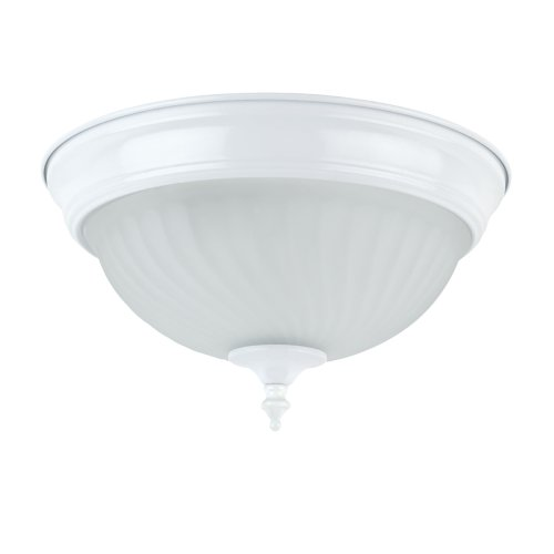 Ceiling light replacement globe amazon globe electric 6261201 1 light 11 inch flush mount ceiling light fixture white finish with frosted swirl glass shade mozeypictures Image collections
