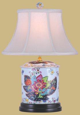 Unique Asian Design Lighting   19u0026quot; Porcelain Oval Jar Oriental Style Fine  Table Lamp