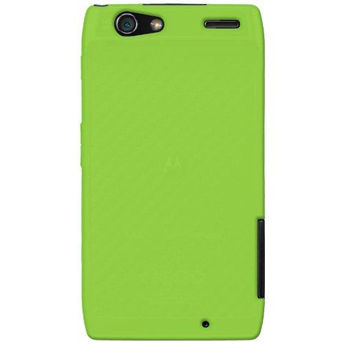 Amzer AMZ92656 Silicone Skin Jelly Case for Motorola DROID RAZR - 1 Pack -Green ()