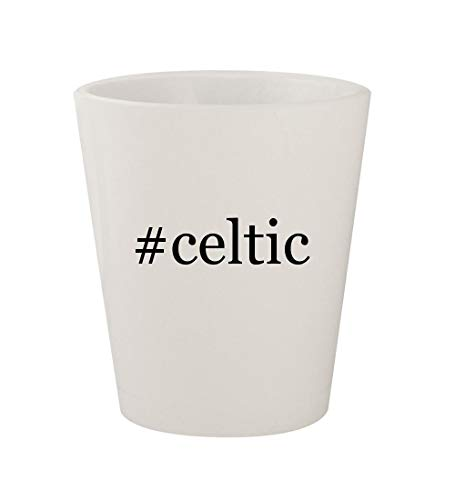- #celtic - Ceramic White Hashtag 1.5oz Shot Glass