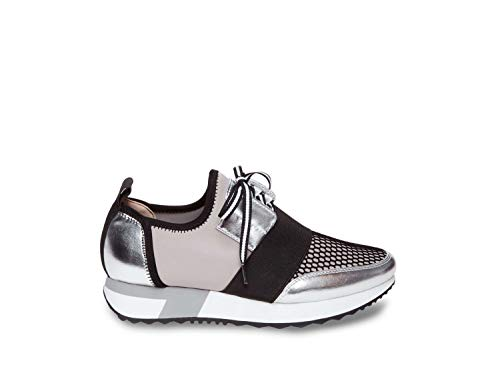 Steve Madden Women's Antics Silver Multi Athletic 5 US