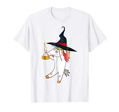Halloween Unicorn Witch T-Shirt for Boys, Girls, Kids, Women ()