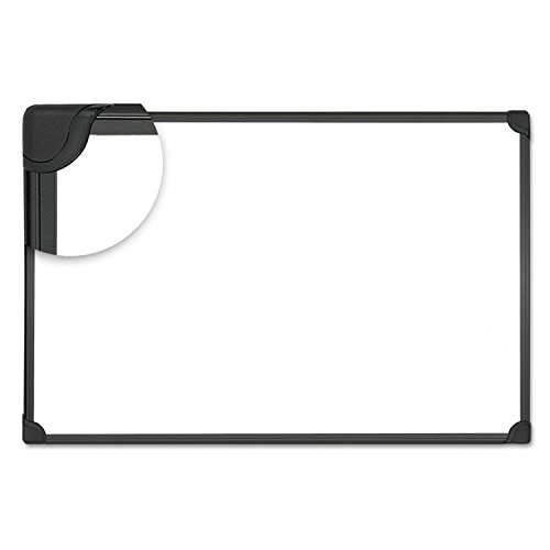 Universal 43024 Design Series Magnetic Steel Dry Erase Board, 24 x 18, White, Black Frame