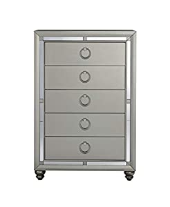 picture of Global Furniture USA 1621 Riley Chest, Silver