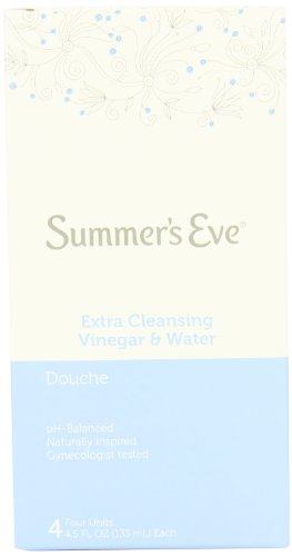 Summer's Eve Douche - Extra Cleansing Vinegar & Water PH-Balanced - Gynecologist Tested - 4 Count, 4.5 Fluid Ounces Each (Pack of 6)