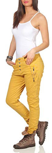 Karostar Pantalón By Mujer Boyfriend Lexxury Para Mostaza wwUqxT4