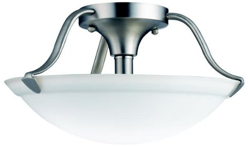 Kichler 3620NI Semi-Flush 2-Light, Brushed Nickel