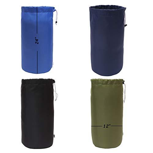 Augbunny Durable Drawstring Water Resistant Dust Flap Stuff Sack Bag 4-Pack ()