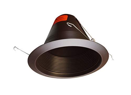 Bronze Baffle - NICOR Lighting 6-Inch Airtight Recessed Cone Baffle Trim, Oil-Rubbed Bronze (17550AOB)