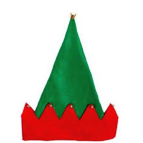 Felt Elf Hat, Red/Green, One (Elfs Hat)