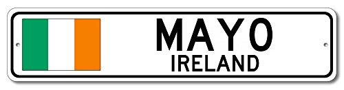 The Lizton Sign Shop Mayo, Ireland Aluminum Irish Flag Sign, Ireland Custom Flag Sign - ()