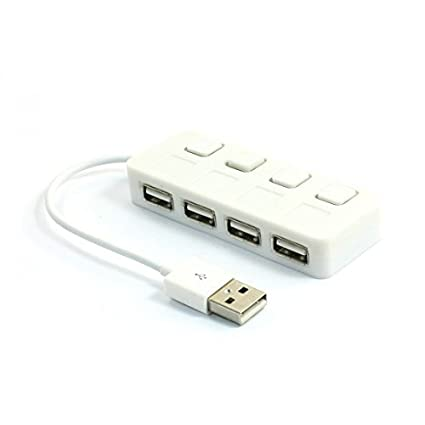 eDealMax Indicador LED alta velocidad DE 4 puertos USB 2.0 Hub Splitter Para PC portátil