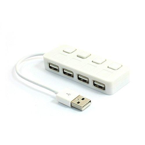 Amazon.com: eDealMax Indicador LED alta velocidad DE 4 puertos USB 2.0 Hub Splitter Para PC portátil: Electronics
