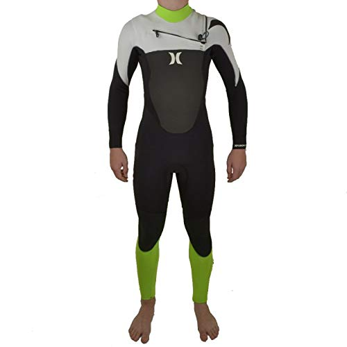 Hurley Fusion 3/2 Neon Green Chest Zip Traje de Neopreno tamaño XS ...