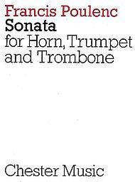 Francis Poulenc: Sonata For Horn, Trumpet And Trombone (Miniature Score)