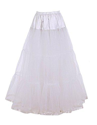 Plus Size Iron Woman Costume (DaisyFormals Ankle Length Bridal Wedding Long Dress Slips,14 Colors- White,LXL)