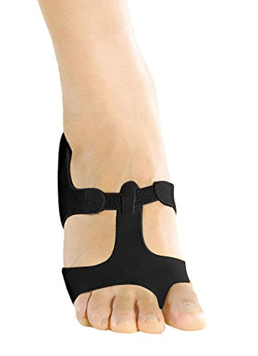Modern Dance Foot Thong / Halbsohle Lyrische Sandale in Wildleder Schwarz