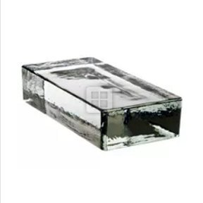 Quality Glass Block 9 1/4'' x 2 1/8'' x 4 1/2'' Vetropieno Clear Glass Brick by Quality Glass Block
