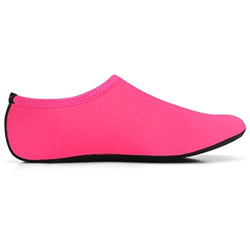 Justonestyle Nbera Barfota Flexibla Vatten Hud Skor Aqua Strumpor För Stranden Simma Surfa Yoga Övning Pop_pink