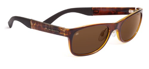Serengeti Eyewear Lunettes de soleil, Piero Marron - Shiny Bubble Tortoise