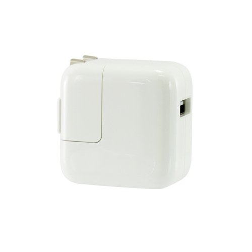 Apple AC to USB Power 12W for Apple iPad supports iPhone, iPods, other USB chargeable devices Model APLA1401