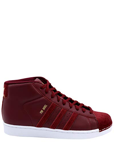 adidas Kids Pro Model J Sneaker (Big Kid),Burgundy,5.5