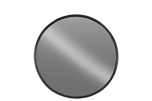 Urban Trends 67094 Metal Round Wall Mirror SM Tarnished Black Finish - Urban Living Collection Mirror