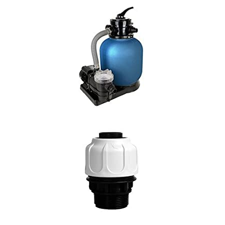 Schwimmbad Filter Set Sandfilteranlage SPF 370 F T.I.P Schlauchanschluss 1 1//2 Zoll AG f/ür 38 mm Schl/äuche