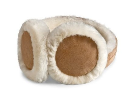 HEAD Womans Ear Warmers Earmuffs with Genuine Shearling Sheepskin One Size Fits All Tan by HEAD (Image #2)