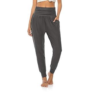 DIBAOLONG Womens Yoga Sweatpants Loose Workout Joggers Pants Comfy Lounge Pants with Pockets Dark Gray S