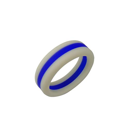 Drothow Silicone Ring Rubber Flexible Ring Band Wedding Engagement Jewelry Gifts]()