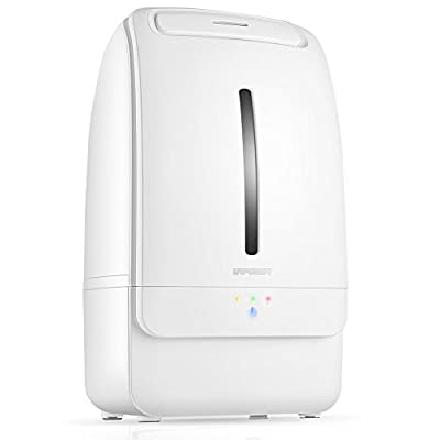 URPOWER Cool Mist Humidifier, 5L Whisper-quiet Operation Humidifiers Waterless Auto Shut-off Cool Mist Ultrasonic Humidifier with Adjustable Mist Mode for Home Bedroom Office Kids Spa