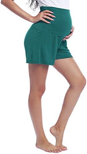 Joyaria Womens Maternity Yoga Shorts Pregnancy Shorts Lounge Wear Pants