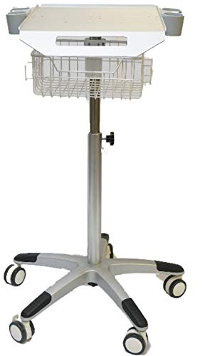 (Mobile Rolling Cart for Ultrasound Imaging System Adjustable Height, Best for LCD Display Scanner.)