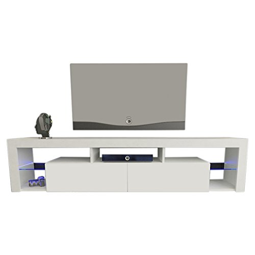 - Meble Furniture & Rugs TV Stand Milano 200 LED Wall Mounted Floating 79