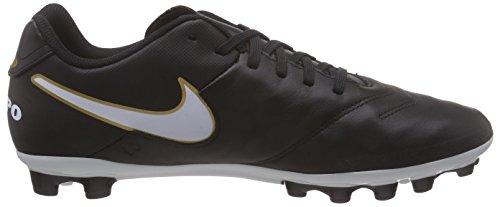 Nike Tiempo Genio II Leather AG, Men's Football Competition Shoes Black / White / Gold (Black / White-metallic Gold)