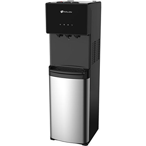 (Avalon Bottom Loading Water Cooler Water Dispenser - 3 Temperature Settings - Hot, Cold & Room Water, Durable Stainless Steel Cabinet, Bottom Loading - UL/Energy Star)