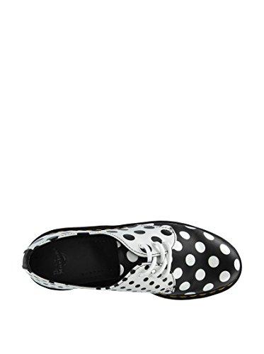 Core Martens Femme blanc Noir Dr 1461 Pour 40 Meris Noir Mocassins qT6Uf
