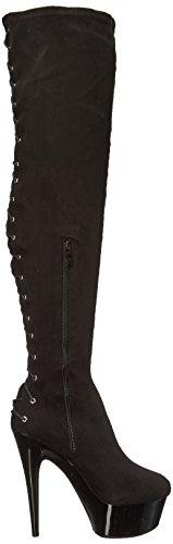 Ellie Chaussures Femmes 609-tarif Ingénieur Boot Daim Noir