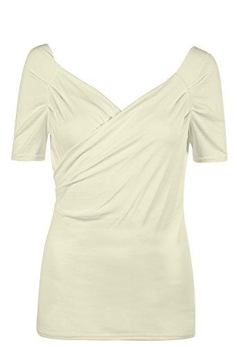 cache Ecru manches shirt courtes T modal coeur en GERRY 5vZwx48q