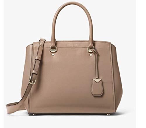 Michael Kors Women's Michael Kors Benning Dove Leather Handbag Brown (Michael Kors Blau Flieger)