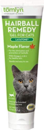 Tomlyn Laxatone Maple-Flavored Hairball Remedy Gel for Cats, 2.5oz